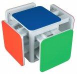 Multi Cube 5 in 1 kindertafel en 4 kinderstoelen - Inperno