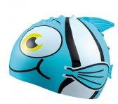 Beco kinder badmuts Siliconen - Dierenmotief blauwe vis