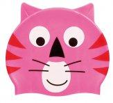 Beco kinder badmuts Siliconen - Dierenmotief roze kat